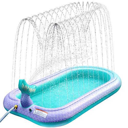 Sprinkler Pad Splash Spielmatte, Kinder Sprinkler Pool Pad Wasser Spielzeug für Kinder im Freien Sommer...