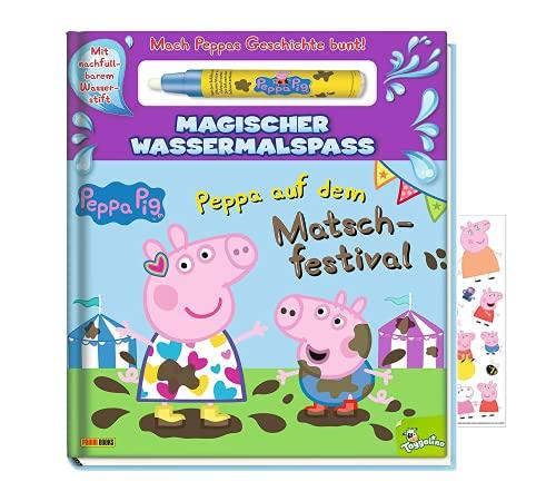 Buchspielbox Peppa Pig - Peppa auf dem Matschfestival - Magischer Wassermalspaß, Malbuch für Kinder ab...