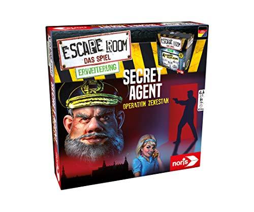 Noris 606101776 - Escape Room Erweiterung Secret Agent - Familien und Gesellschaftsspiel für Erwachsene...