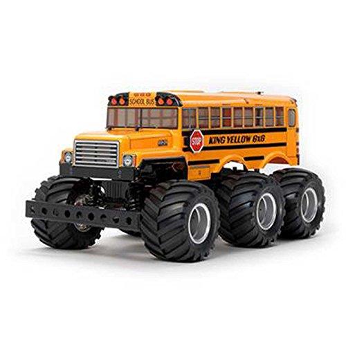 TAMIYA 58653 58653-1:18 RC King Yellow 6x6 Bus (G6-01), ferngesteuertes Auto/Fahrzeug, Modellbau,...
