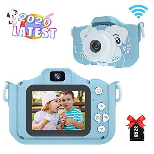 Amycute Kinderkamera, Fotoapparat Kinder Selfie und Videokamera mit 32 Megapixel/Dual Lens/2 Inch...
