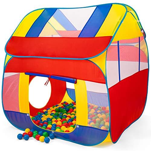 KIDUKU® Bällebad XXL + 300 Bälle + Tasche Spielhaus Babyzelt Spielzelt Kinderzelt ideal für dinnen...