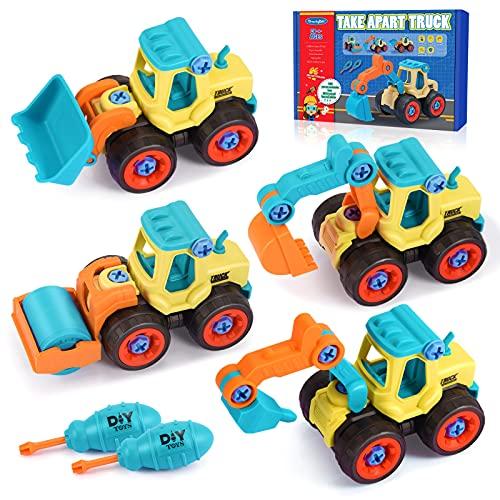 Spielzeug ab 2 3 4 5 Jahre,LET'GO! Bagger Spielzeug Sandspielzeug Junge Kinderspielzeug ab 2-4 Jahre...