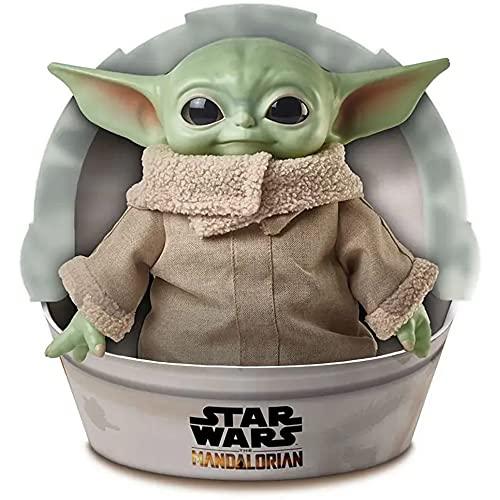Disney Star Wars GWD87 - Plüschspielzeug mit Geräusch- und Bewegungsfunktion, ca. 28 cm große Yoda...