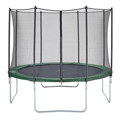 CZON SPORTS Gartentrampolin Ø360 cm mit Sicherheitsnetz, grün trampolin trampolin outdoor