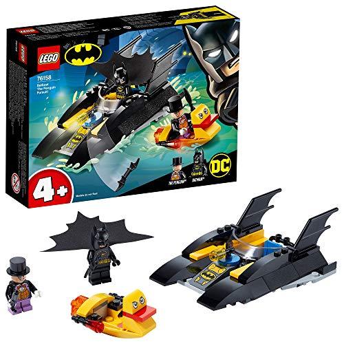LEGO 76158 Super Heroes DC Batman 4+ Verfolgung des Pinguins – mit dem Batboa, Spielzeugboot für...