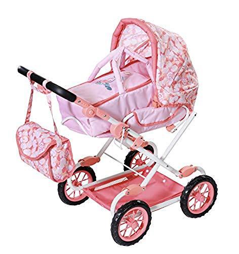 Baby Annabell Deluxe Kinderwagen für 43cm Puppe - Leicht für Kleine Hände, Kreatives Spiel fördert...