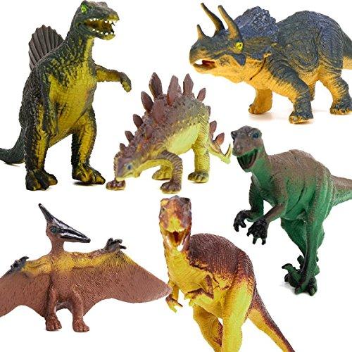 LEORX 6ST Dinosaurier Spielzeug pädagogisches Spielzeug für Kinder