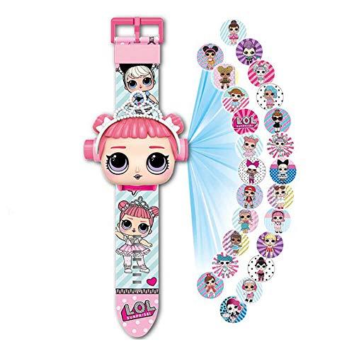 Armbanduhr LOL Surprise Projektor 20 Figuren Puppe LOL, Elektronische Uhr Kinder Mädchen L.O.L,...