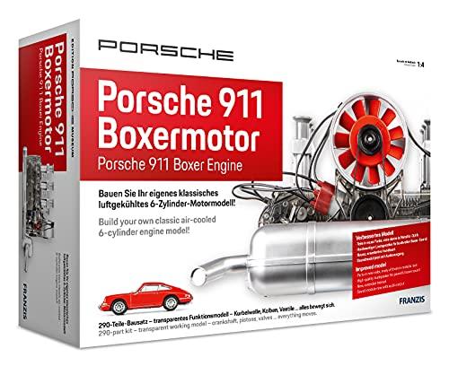 FRANZIS 67140 - Porsche 911 Boxermotor, hochwertiger Modell-Bausatz des klassischen 6-Zylinder Motors,...
