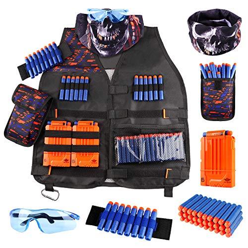 UWANTME Taktische Weste für Nerf Guns N-Strike Elite Serie Tactical Vest Kit Nerf Zubehör Set für...