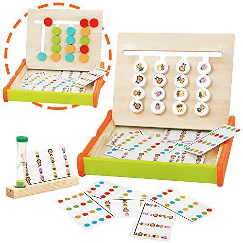 Montessori Spielzeug Puzzle Kinder Holzspielzeug Logik Sortierspiel Holz Pädagogisches Holzpuzzle Spiel...