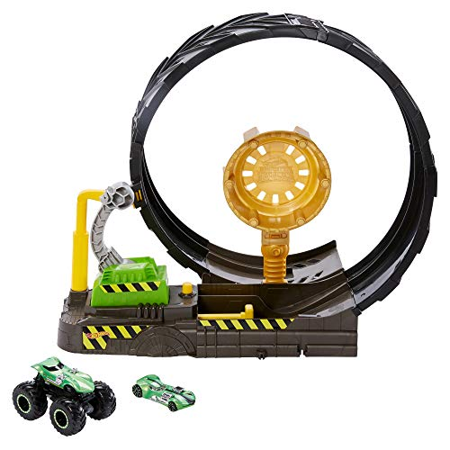 Hot Wheels GKY00 - Monster Trucks Looping Challenge Spielset mit 1 Monster Truck und 1 Hot Wheels...
