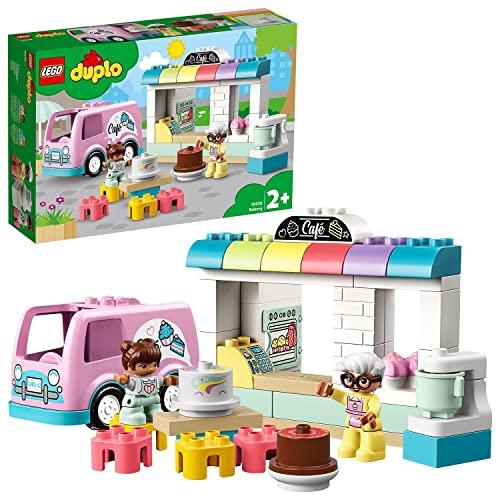 LEGO 10928 DUPLO Tortenbäckerei Spielset mit Café-Wagen, Kuchen und Cupcakes, große Bausteine für...