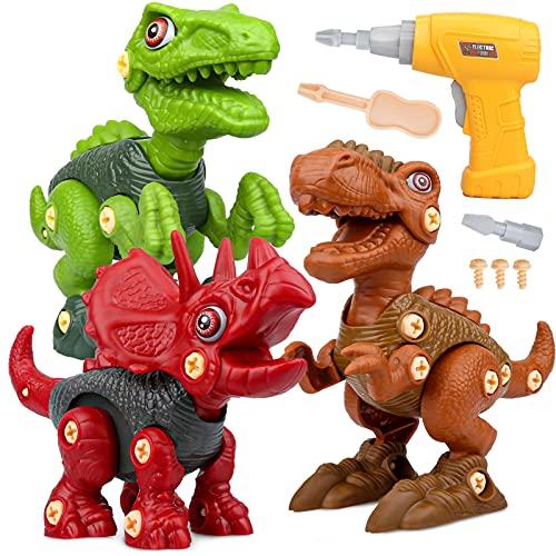Vanplay Dinosaurier Montage Spielzeug mit Bohrmaschine Kinder, DIY Baustelle Spielzeug umfassen...