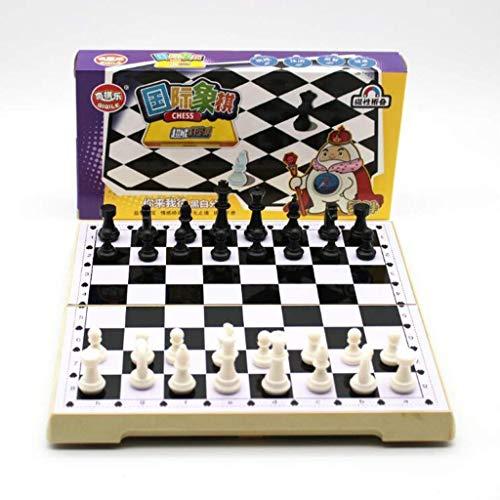 MAZ Schachbrett Tragbare Schach Falten Schachbrett Plastikschach Puzzle Schachspiel Spielzeug Schach...