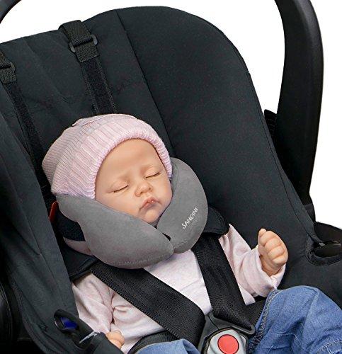 SANDINI SleepFix® Baby – Schlafkissen/Nackenkissen mit Stützfunktion – Kindersitz-Zubehör für...