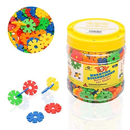 Smart Planet® 400 Steckblumen in Dose - Schneeflocken zum Stecken 3,3 cm - Kinder Spielzeug -...