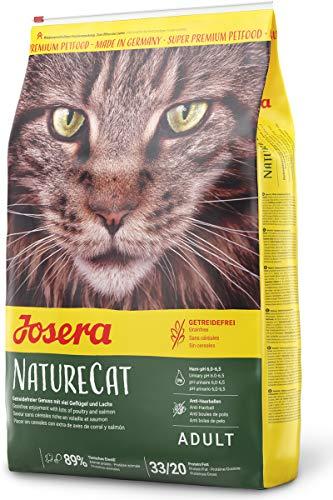 JOSERA NatureCat (1 x 10 kg)   getreidefreies Katzenfutter mit Geflügel- und Lachsprotein   Super...