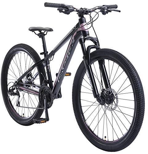 BIKESTAR Hardtail Aluminium Mountainbike Shimano 21 Gang Schaltung, Scheibenbremse 27.5 Zoll Reifen   14...