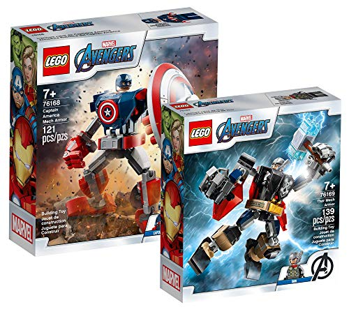 Collectix Lego Set - Marvel Avengers Captain America Mech 76168 + Marvel Avengers Thor Mech 76169, Das...