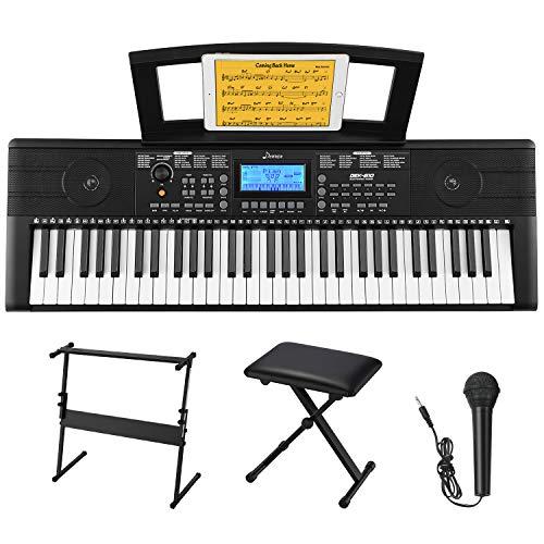 Donner 61 Tasten Tastatur Klavier Kit, Electronic Keyboard Digital Piano Kit mit Klavier...