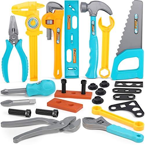 GeyiieTOYS Kinder Werkzeug Kinderwerkzeug Spielwerkzeug Spielzeug Werkzeug Set Werkzeugzubehör Geschenk...