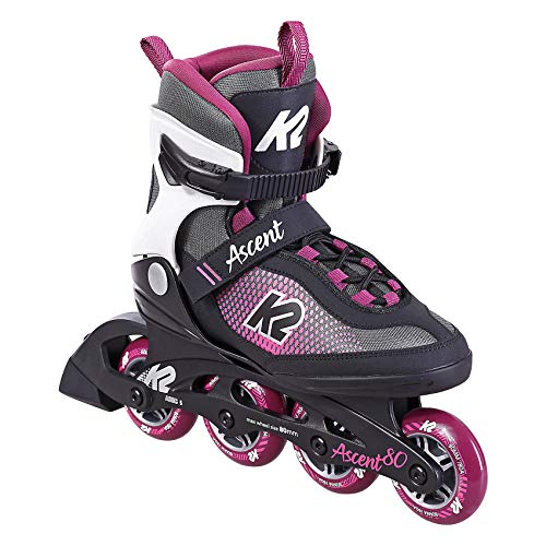 K2 Skate Damen Inline Skate Ascent 80 W — Black - Purple — EU: 39.5 (UK: 6 / US: 8.5) — 30F0760