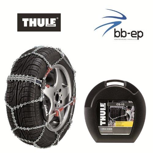 Thule Premium Schneeketten CS-10 - für die Reifengröße 205/50 R17 Kettenglieder 10 mm - mit Icebreaker...
