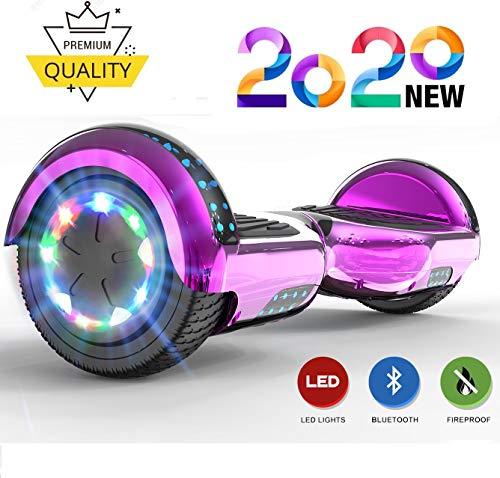 NEOMOTION Hoverboards 6,5 Zoll für Kinder Hover Scooter mit Bluetooth LED Flash Elektroroller mit...
