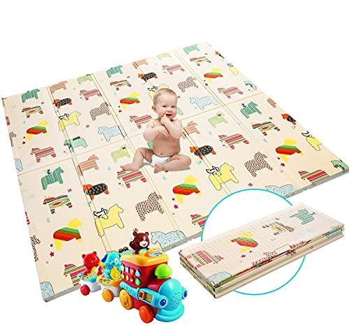 Krabbelmatte Baby Spielmatte Extra große Babyspielmatte faltbare reversible ungiftige Schaum Crawl...
