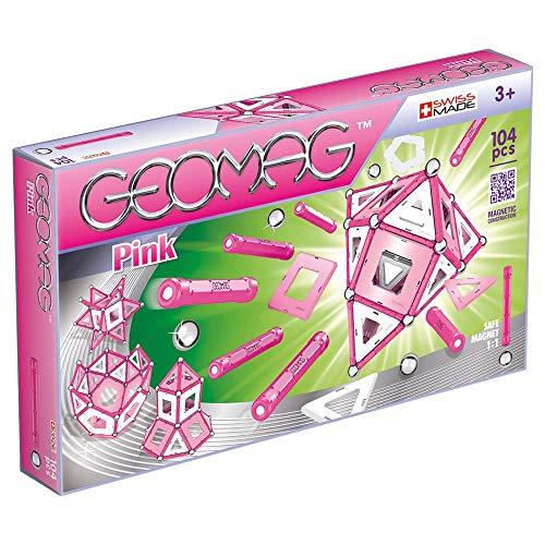 Geomag, Classic Pink 344, Magnetkonstruktionen und Lernspiele, Konstruktionsspielzeug, 104-teilig