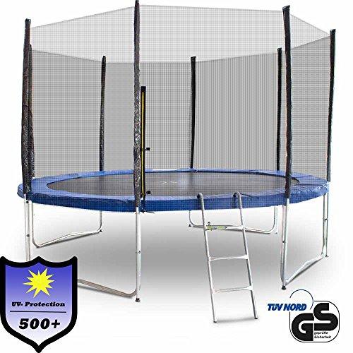 ms-point Gartentrampolin Trampolin Outdoor-Trampolin Fitness-Trampolin 370cm, inkl. Randabdeckung,...