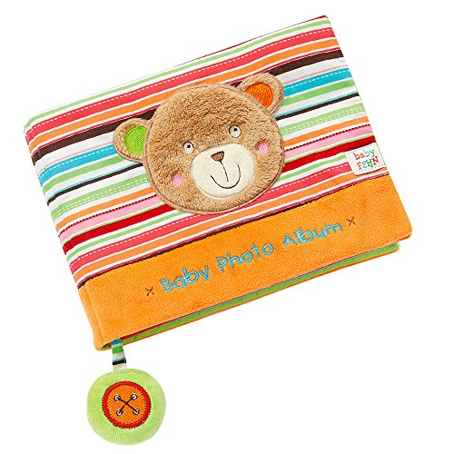 Fehn 091410 Fotobuch Teddy – Weiches Soft-Bilderbuch für 6 Fotos á 10x15 cm – Spielerisch Gesichter...