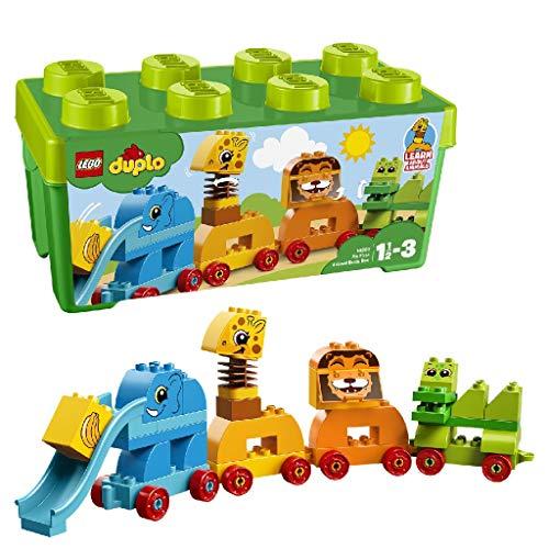 LEGO 10863 DUPLO Meine erste Steinebox mit Ziehtieren, Spielzeuge für Vorschulkinder im Alter von 1,5-3...