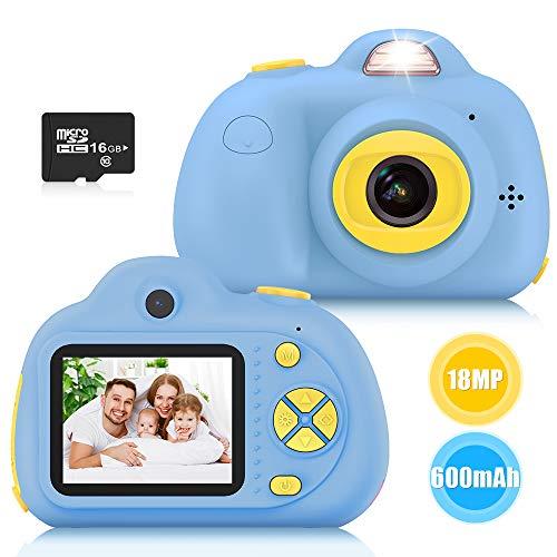 Kimy Kinderkamera 3 4 5 6 7 8 Jahre, Spielzeug Jungen 3-10 Jahre Kinder Fotoapparat Geschenke Jungen 3-10...
