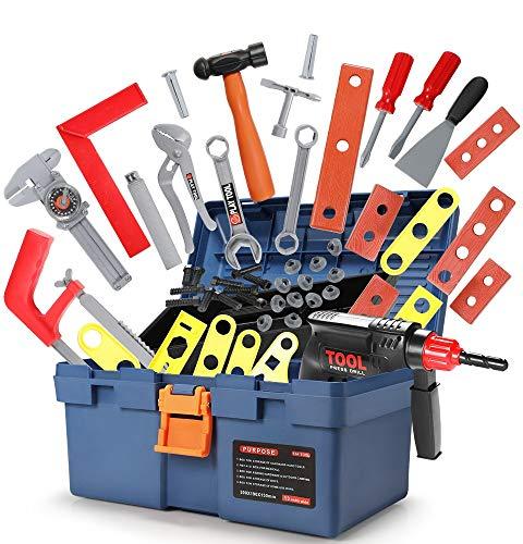 GeyiieTOYS Werkzeugkoffer Spielzeug 31 in 1 Set Werkzeug Kinder Spielset Spielwerkzeug Geschenk ab 3...