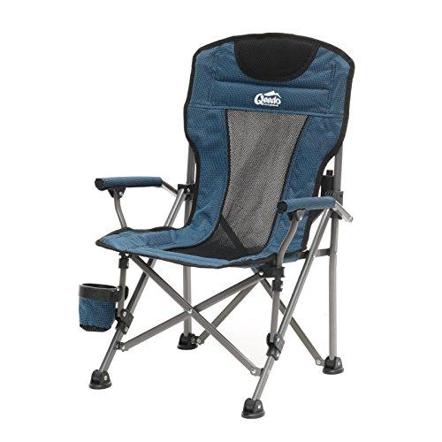 Qeedo Camping-Stuhl Kinder Johnny Junior bis 60 kg, Klappstuhl für Mädchen und Jungen - blau