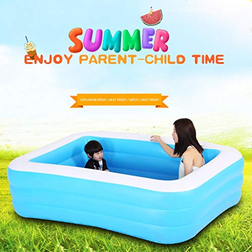 Aufblasbarer Pool Family Pool Garten Freien Pool Kinder Aufstellpool Planschbecken Pool rechteckig für...
