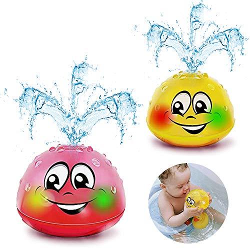 Addmos Badewannenspielzeug, Baby Spielzeug, 2 x Wasser Baby Badespielzeug mit Licht für 1 2 3 4 5 Jahre...