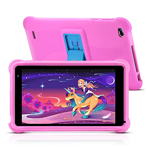 qunyiCO Y7 Kinder Tablet 7 Zoll, Tablet für Kids, 1024 * 600 Full HD-Display, 10,0 Android GO, 2 GB RAM,...