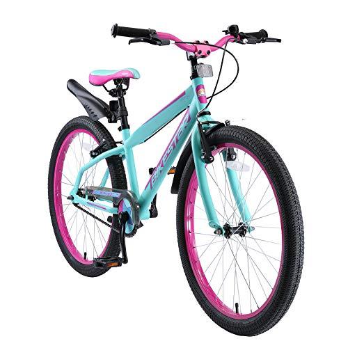 BIKESTAR Kinderfahrrad 24 Zoll für Mädchen und Jungen ab 9 Jahre | Kinderrad Urban Jungle | Fahrrad...