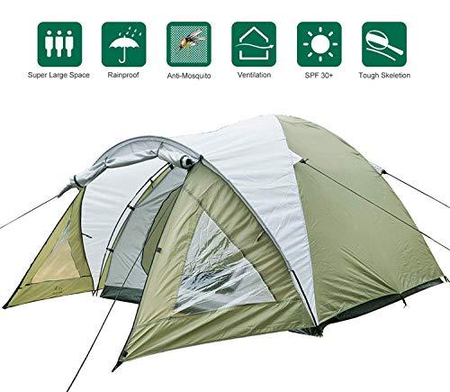 Climecare Kuppelzelt 2-3-4 Personen, Zelte 3 Jahreszeiten Kuppelzelt Outdoor Campingzelt...
