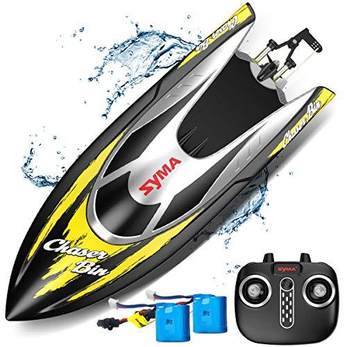 SYMA RC Boot Schnell Boot 2.4GHz Fernbedienung Spielzeug High-Speed Racing Boot mit Starke Kraft für...