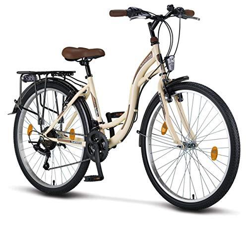 Licorne Bike Premium City Bike in 26 Zoll - Fahrrad für Mädchen, Jungen, Herren und Damen - Shimano 21...