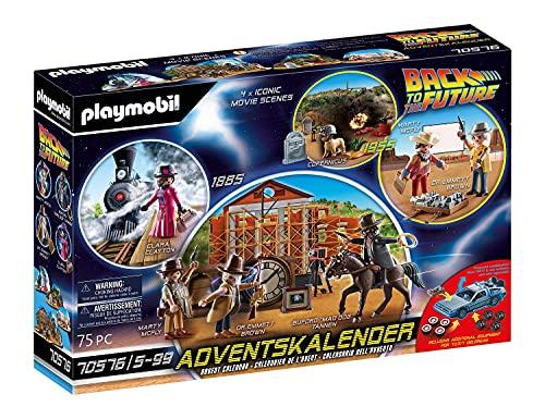 PLAYMOBIL Adventskalender 70576 Back To The Future III mit Sammelfiguren, Diorama und Zubehörteilen der...