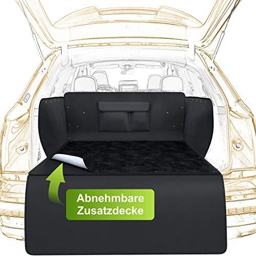 WhizProducts Kofferraumschutz Hund mit Abnehmbarer Zusatzdecke - Hundedecke Auto Kofferraum inkl....