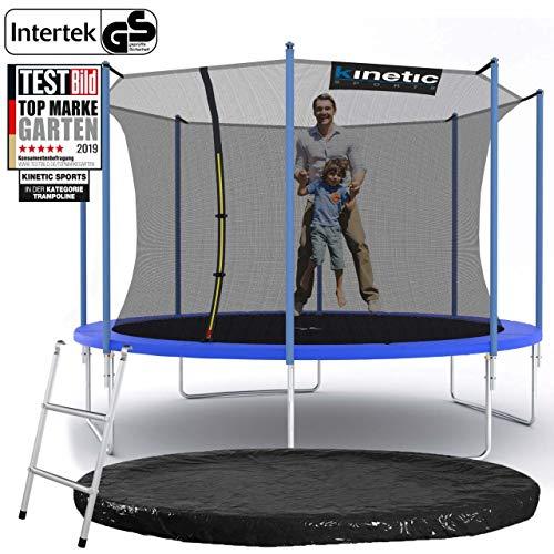 Kinetic Sports Outdoor Gartentrampolin Ø 360 cm, TPLS12, inklusive Sprungtuch aus USA PP-Mesh...