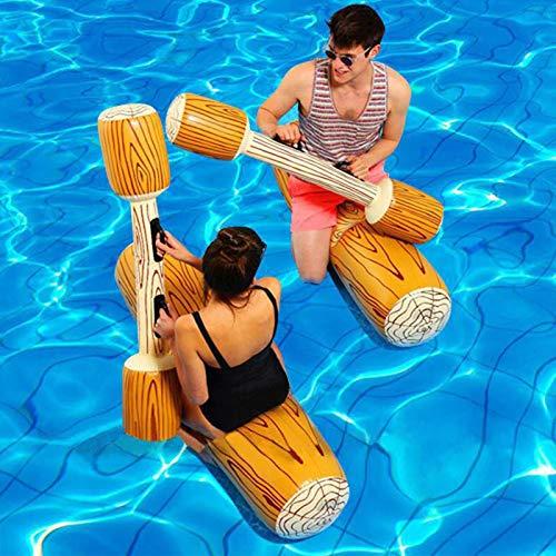 Sannysis Aufblasbares Spielzeug Schwimmen 4 Stück Floating Battle Set Float Flöße Outdoor Beach Pool...