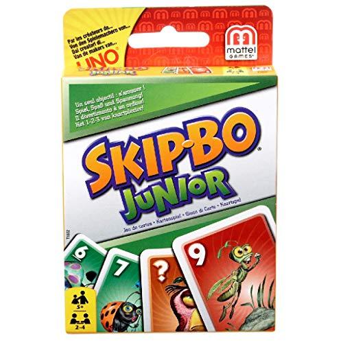 Mattel Games T1882 Skip-Bo Junior Kartenspiel für Kinder, geeignet für 2 - 4 Spieler, Spieldauer ca. 30...